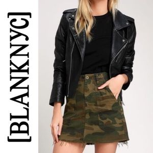 NWT BLANK NYC Chain of Command Camo Print Skirt